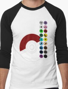 Pokemon Pokeball Energy Complete  Men's Baseball ¾ T-Shirt