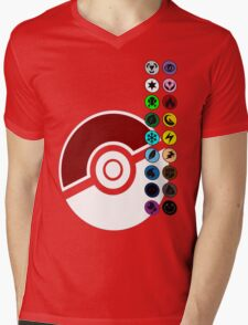 Pokemon Pokeball Energy Complete  Mens V-Neck T-Shirt