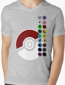 Pokemon Pokeball Energy Complete  Mens V-Neck T-Shirt