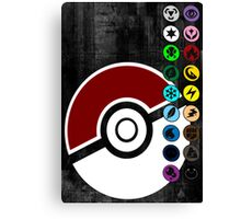 Pokemon Pokeball Energy Complete  Canvas Print