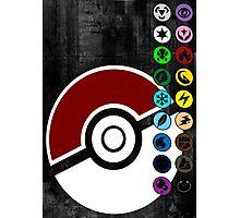 Pokemon Pokeball Energy Complete  Photographic Print