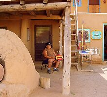 A Chant for my Ancestors, Taos Pueblo Adobe Village by David  Hughes