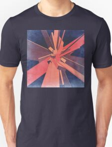 Vintage Orange Rectangles Unisex T-Shirt