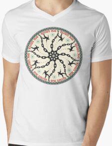 Disc Golfer Mens V-Neck T-Shirt
