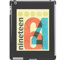 Nineteen 64 iPad Case/Skin