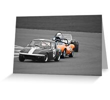 Ginetta G4 in a Lotus Sandwich Greeting Card