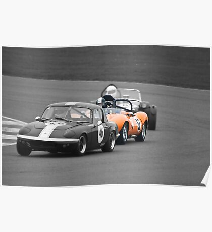 Ginetta G4 in a Lotus Sandwich Poster