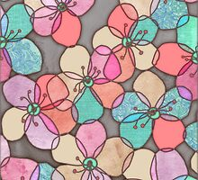 It's Always Summer Somewhere - bright poppy floral by micklyn