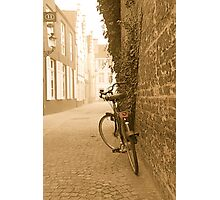 Bike in Bruges Photographic Print