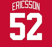 Detroit Red Wings Jonathan Ericsson Jersey Back Phone Case by Russ Jericho