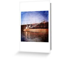 Vintage Great Lakes Freighter Greeting Card