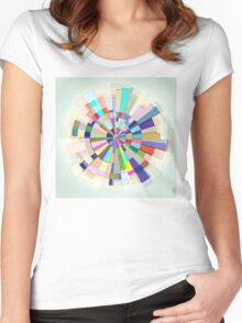 Abstract Color Wheel Women's Fitted Scoop T-Shirt