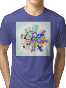 Abstract Color Wheel Tri-blend T-Shirt