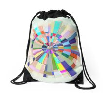 Abstract Color Wheel Drawstring Bag