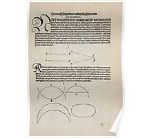 Measurement With Compass Line Leveling Albrecht Dürer or Durer 1525 0053 Repeating Shapes Poster