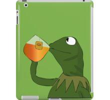 Kermit sipping tea iPad Case/Skin