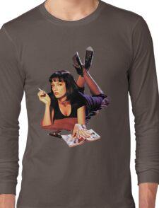 Uma Thurman Pulp Fiction Trasparent Png  Long Sleeve T-Shirt