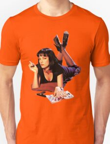 Uma Thurman Pulp Fiction Trasparent Png  Unisex T-Shirt