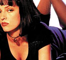 Uma Thurman Pulp Fiction Trasparent Png  Sticker