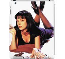 Uma Thurman Pulp Fiction Trasparent Png  iPad Case/Skin