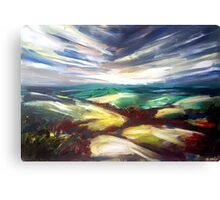 Straight lines in the sky Canvas Print