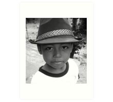 boy with the hat Art Print