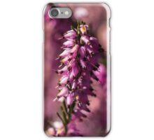 Macro Heather Plant iPhone Case/Skin