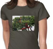 Macaws in Flight Womens Fitted T-Shirt