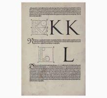 Measurement With Compass Line Leveling Albrecht Dürer or Durer 1525 0122 Alphabet Letters Calligraphy Font Kids Tee