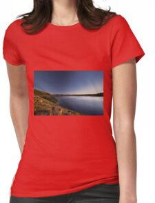 Dusk at Solider Creek Reservoir Womens Fitted T-Shirt