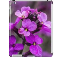 Macro Pink Flowers Square Photo iPad Case/Skin