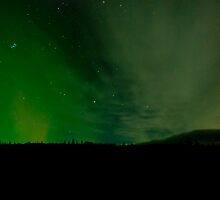 Alaska Highway Night Sky by peaceofthenorth