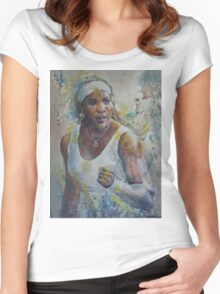 Serena Williams - Portrait 5 Women's Fitted Scoop T-Shirt