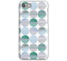 Abstract blue pattern iPhone Case/Skin