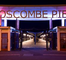 Boscombe Pier at night by Ian Middleton