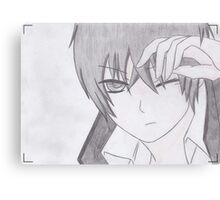 Hibari Kyoya Photographed Canvas Print