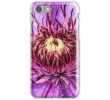 Macro Clematis Flower iPhone Case/Skin