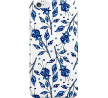 Blue flowers iPhone Case/Skin
