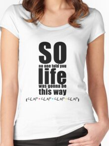 Friends Theme - Simple Typography Collection Women's Fitted Scoop T-Shirt