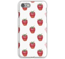Seamless pattern with watercolor strawberry iPhone Case/Skin