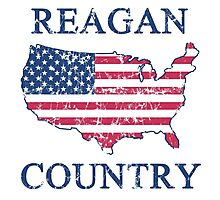 Retro 80s Reagan Country Photographic Print
