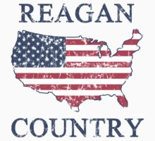Retro 80s Reagan Country Kids Tee