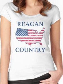 Retro 80s Reagan Country Women's Fitted Scoop T-Shirt