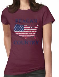 Retro 80s Reagan Country Womens Fitted T-Shirt