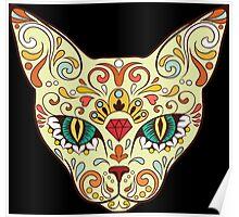 Calavera Cat Poster