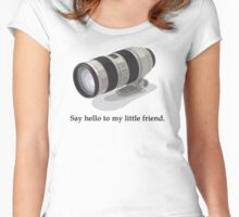 Say Hello to my Little Friend (70-200) Women's Fitted Scoop T-Shirt