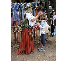 Getting Crowned By the Fae Lady Photographic Print