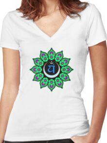 Anahata Chakra Women's Fitted V-Neck T-Shirt