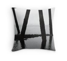 Remember Exploring Under the Boat House 1 Throw Pillow