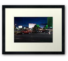 Red Truck, Las Vegas Framed Print